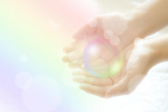 手の中の虹